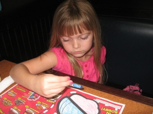 Coloring at TGI Friday